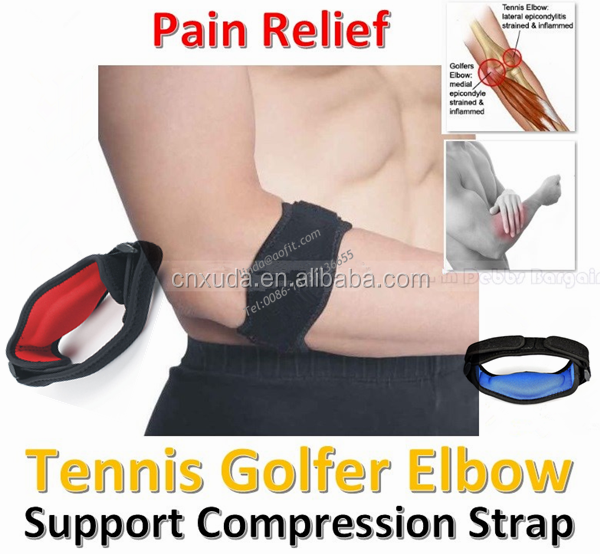 Pain Relief for Tennis & Golfer's Elbow Best Forearm Brace & Elbow Support with Compression Pad Tennis Elbow Brace