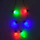 Newest XMAS Jumbo bulb necklace with 6pcs led lights
