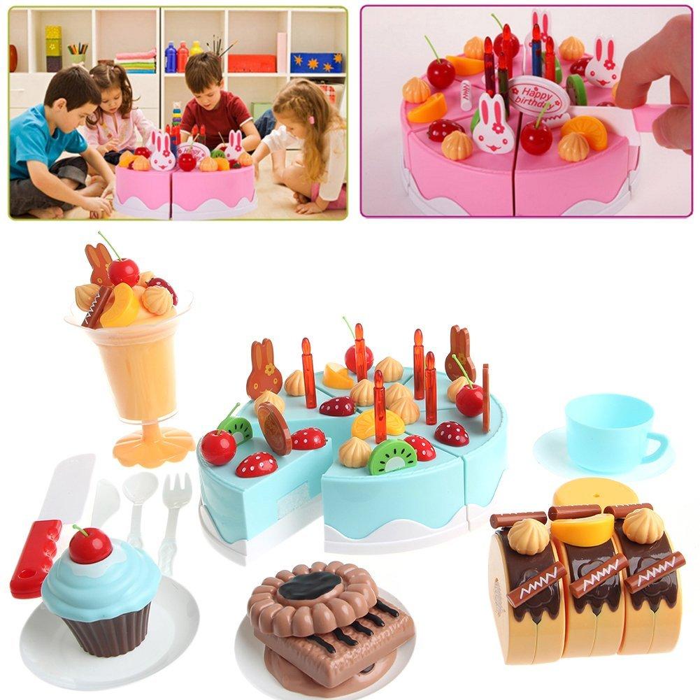 Get Quotations SCASTOE 75Pcs Set Plastic Kitchen DIY Cutting Birthday Cakes Toy For Children Kids