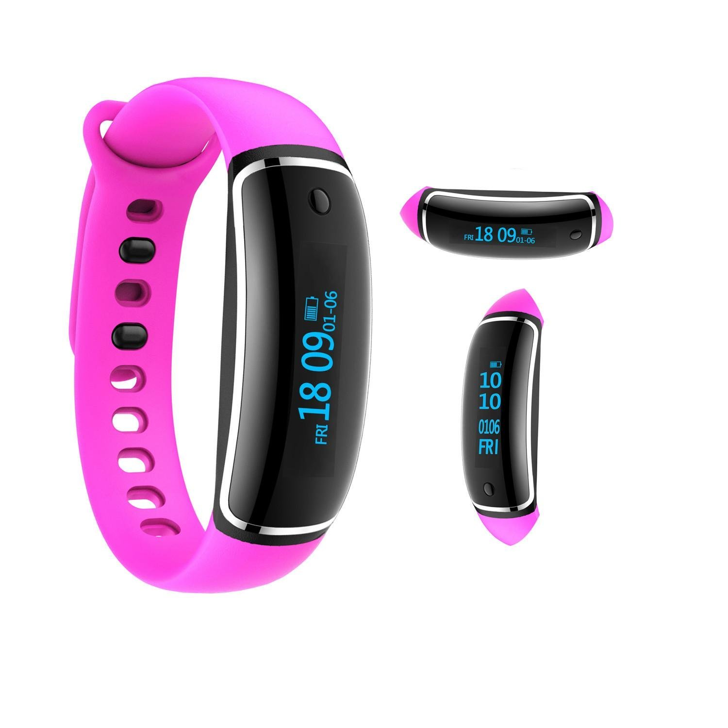 Kobwa Heart Rate Monitor Fitness Tracker Watch, Kobwa IP67 Waterproof Smart Bluetooth 4.0 Activity Tracker With Steps Tracker, Cycling Mode And Calls Messages Vibration For IOS Andriod