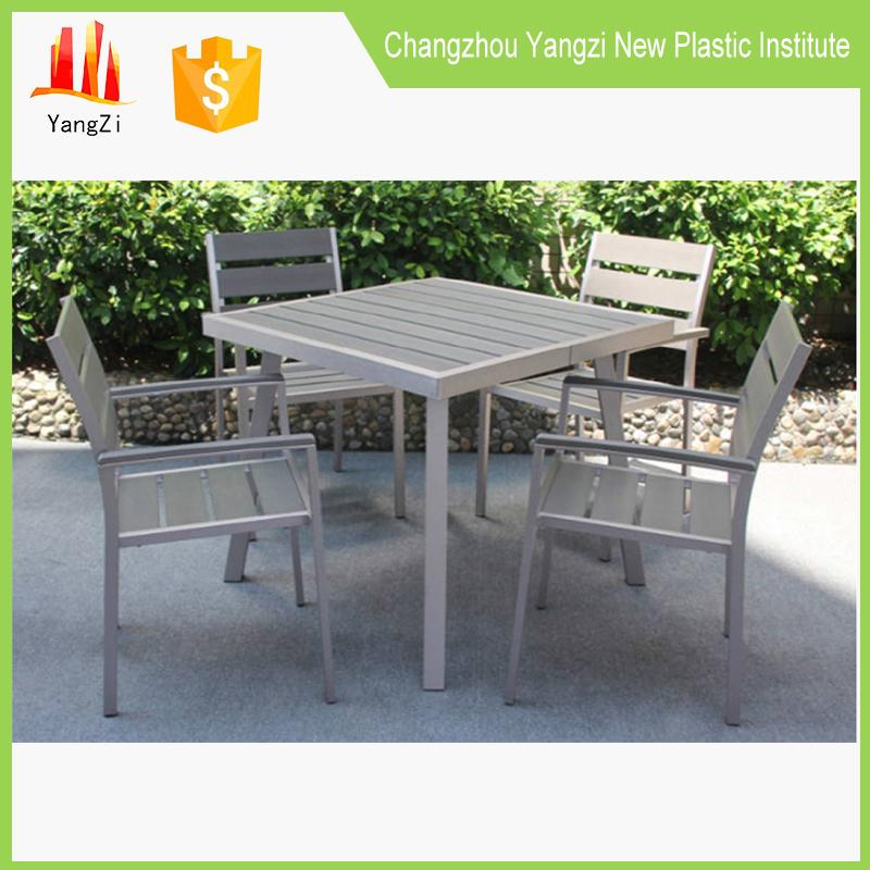 2016 en plastique patio en plein air meubles de jardin jardin table ...