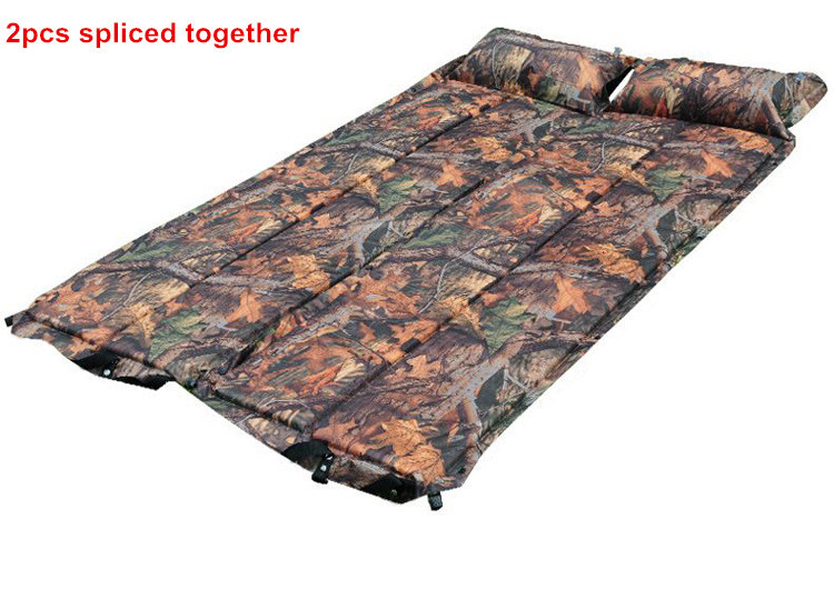 Tent dampproof Automatic Inflatable Mattress Outdoor Camping Sleeping Mat Pad with Pillow Cushion Camouflage