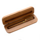 Promotional gifts customized logo engraved bamboo box mix bamboo gel pen