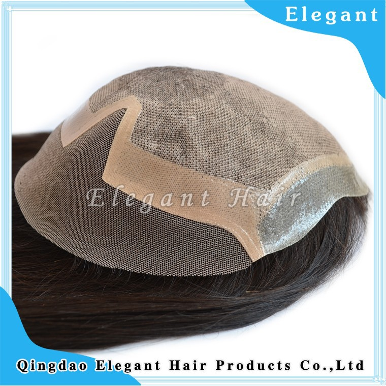 New product 100% human virgin remy hair topper wig women toupee