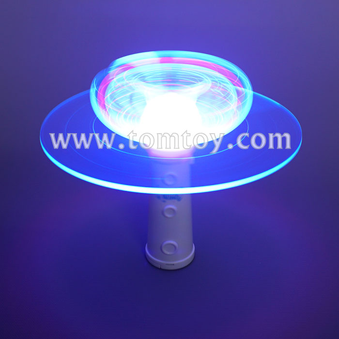 Hot Fiber Optic LED Light Up Spinner Wand