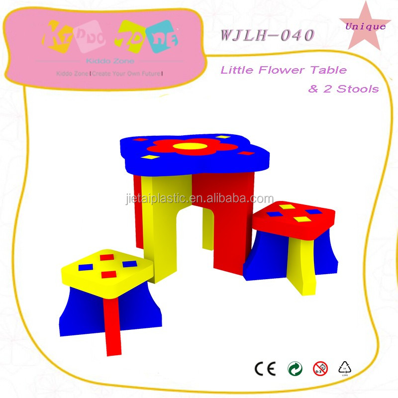 Children toys educational kids table and chair set furnitures2016 EPE foam children study table and chair set furnitures