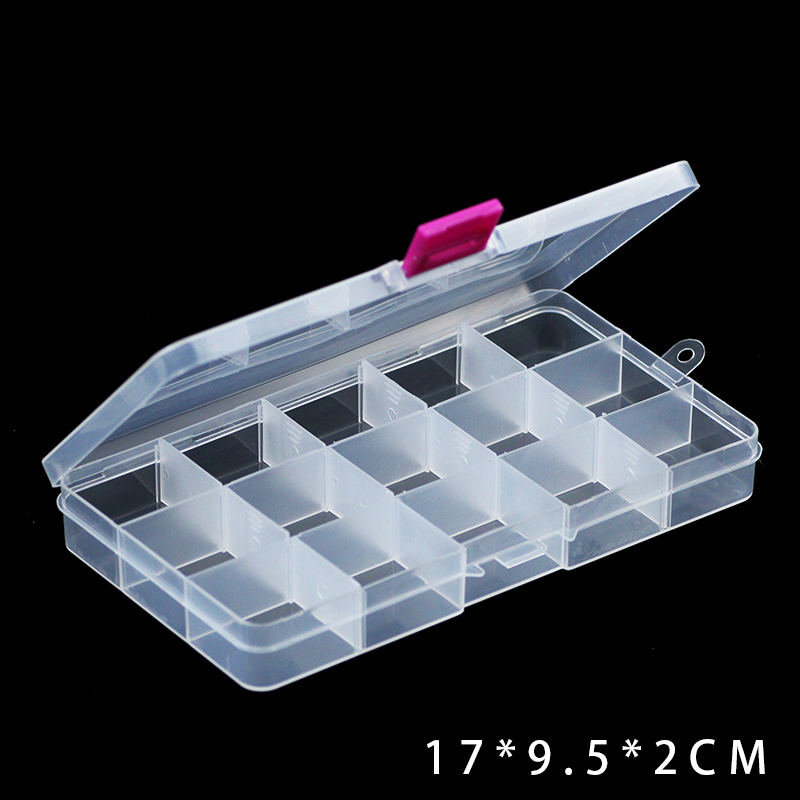 JHNBY регулируемые Слоты прозрачный отсек пластиковые подарочные коробки для ювелирных изделий контейнер для хранения DIY бусины серьги кольц...()