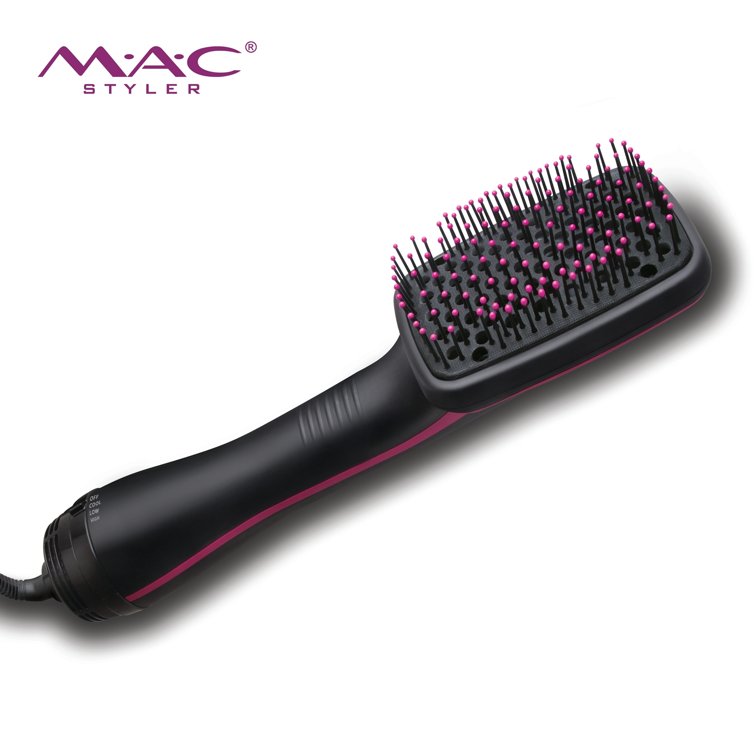 Multi-function Hair Electric Comb Blowing Wind 360 Degree Rotation Line Professional Brush Straightening Tool Removable Comb
