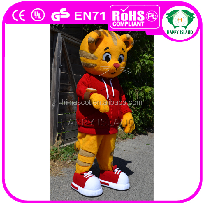 HI Cute popular adult tiger mascot costume for children's party