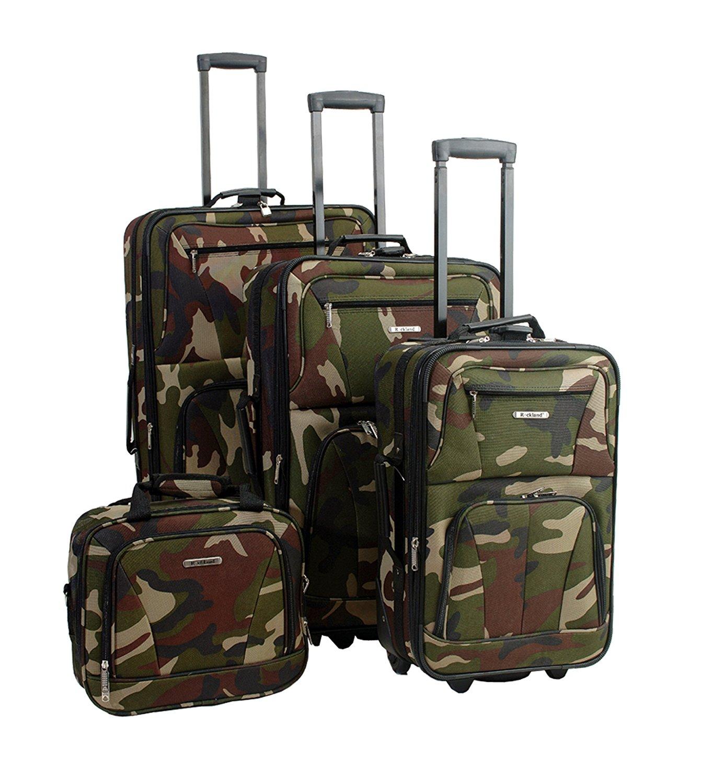 9b2f36924f77 Get Quotations · Rockland Luggage Skate Wheels 4 Piece Luggage Set
