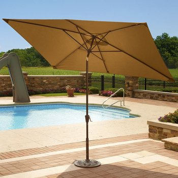 2.1x2.7m Square Patio Cantiliver Garden Umbrella Heavy Duty Outdoor  Umbrellas