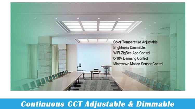 36w zigbee cct microwave motion sensor led panel lighting 595x595