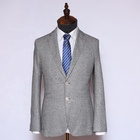 OEM light gray formal party wear business Indian wedding suits for men