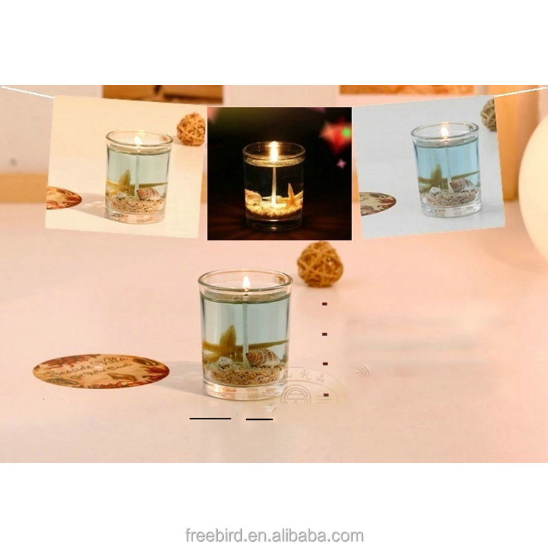 Wholesale high quality glass gel candle made for European Market