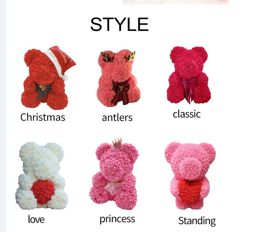 Beautiful flower PE rose bear Hello Kitty for valentine