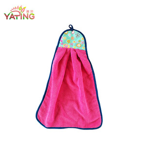 80%polyester+20%polyamide Microfiber Coral Fleece Hanging Korea Quickly-Dry Towel