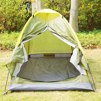 Single layer Polyester backpacking tent for 2 persons