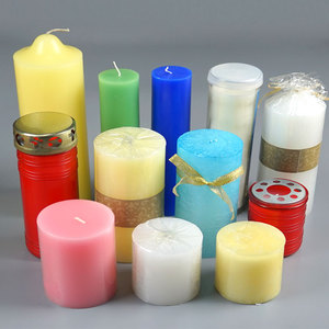 pillar shape homeware lighting real flame pure cotton wick simple daily-use  church candle