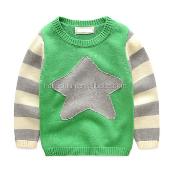 Baby Boy Pullover Cotton Yarn Knit Star Pattern Sweater Buy