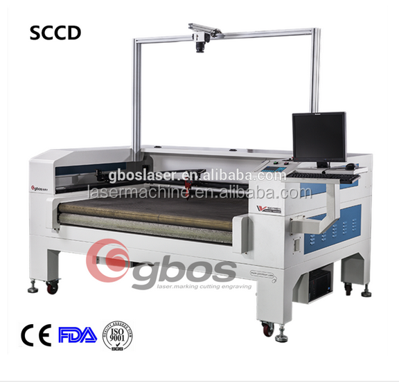 Digital printing special laser cutting machine with camera/CO2 galss laser cutting machine