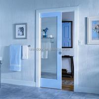 1-lite mirrored bathroom shower room pocket door