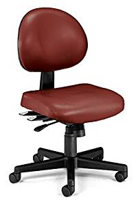 OFM 241-VAM-HF-603 24 Hour Anti-Microbial & Anti-Bacterial Vinyl Task Chair with Hard Floor Casters
