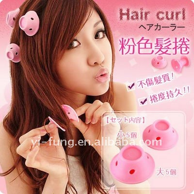 JAPAN Soft Hair Care Peco Rollers Curlers 10 roll DIY