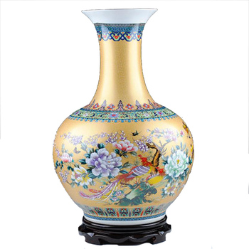 Ws Gorgeous Gold Design Ming Dynasty Antique China Ceramic Vase