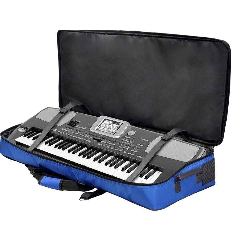 luxury professional protable 61 76 key keyboard electronic organ bag piano backpack soft gig. Black Bedroom Furniture Sets. Home Design Ideas