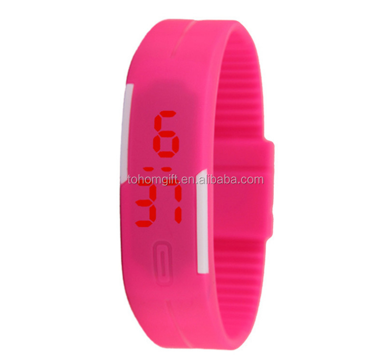 Promotional gift led children watch touch Screen silicone rubber kids watches