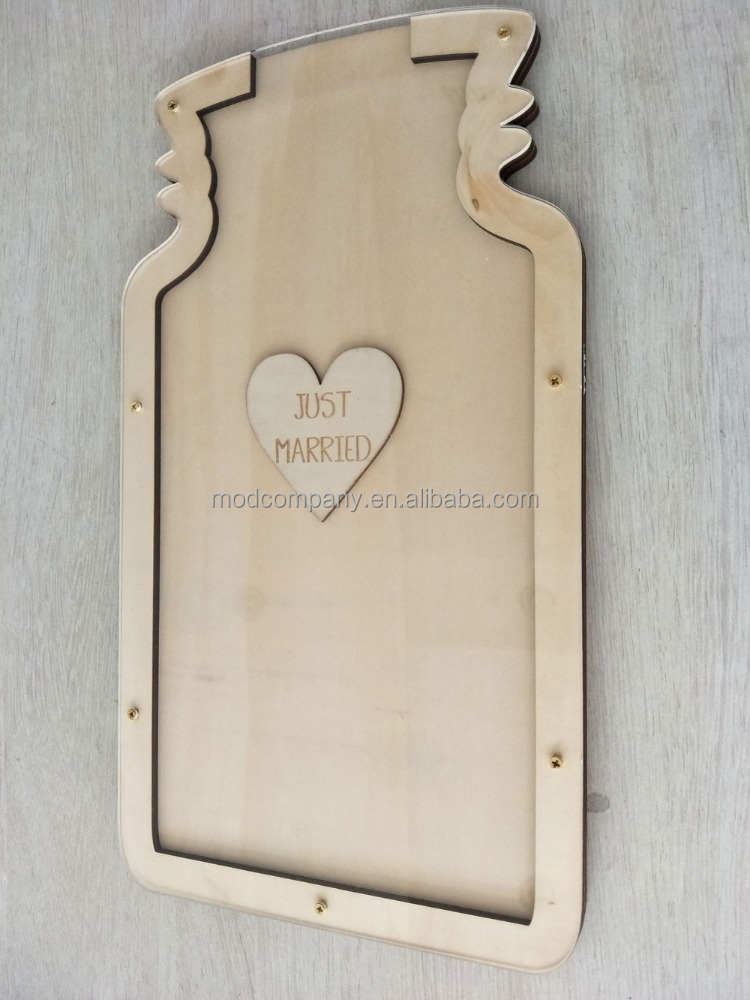 Heart Drops Wedding Guest Book