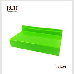 जम्मू एंड एच Storefixture एक्रिलिक प्लास्टिक 24.8cm * 10.5cm * 0.2cm Slatwall जूते प्रदर्शन शेल्फ के लिए खुदरा दुकान