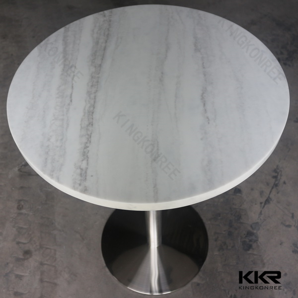 Engineered Quartz Dining Table,stainless Steel Round Dining Table Base