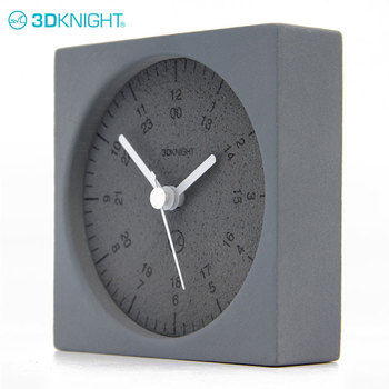 Outdoor Small Modern Table Cement Clocks