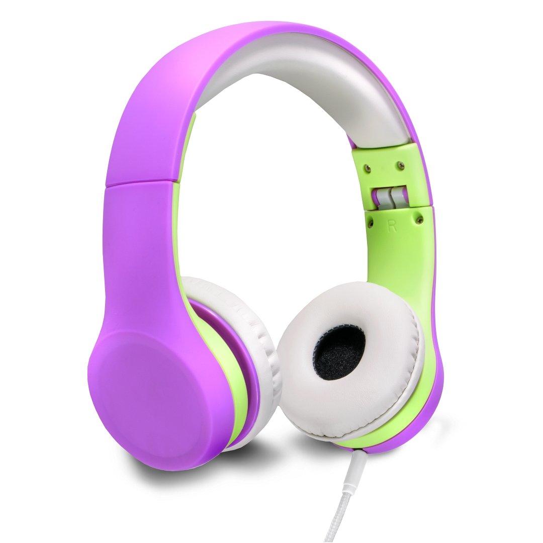 Nenos Children Headphones Kids Headphones Children's Headphones Over Ear Headphones Kids Computer Volume Limited Headphones for Kids Foldable (Purple)