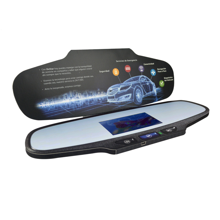 Promotional Item 4.3inch Brochure with Plane shape cover print LCD Screen Video Brochures