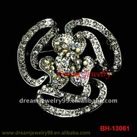 fashion initial brooch flower shoes pins floral hijab pins fancy crystal brooches pins jewelry