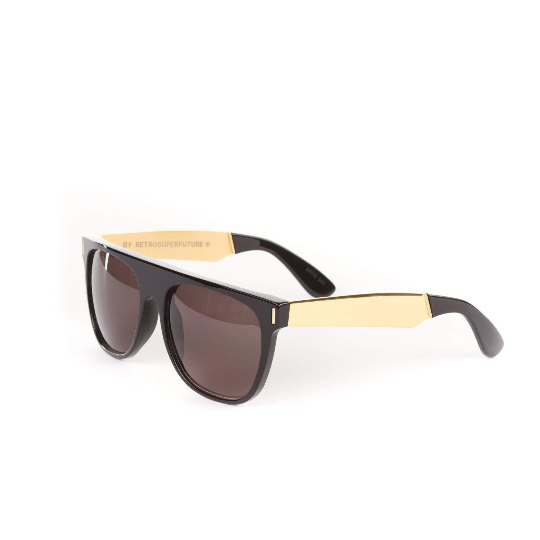 23f71add1207 ... Racer Onice Verde Sunglasses I07 Black Gold Mineral Brown 98.95.  Retrosuperfuture Flat Top Francis Black Gold Large Sunglasses SUPER-NIM