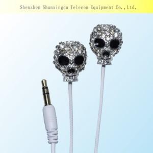 2015 SXD bling bling Rhinestone Cute earphone for girls