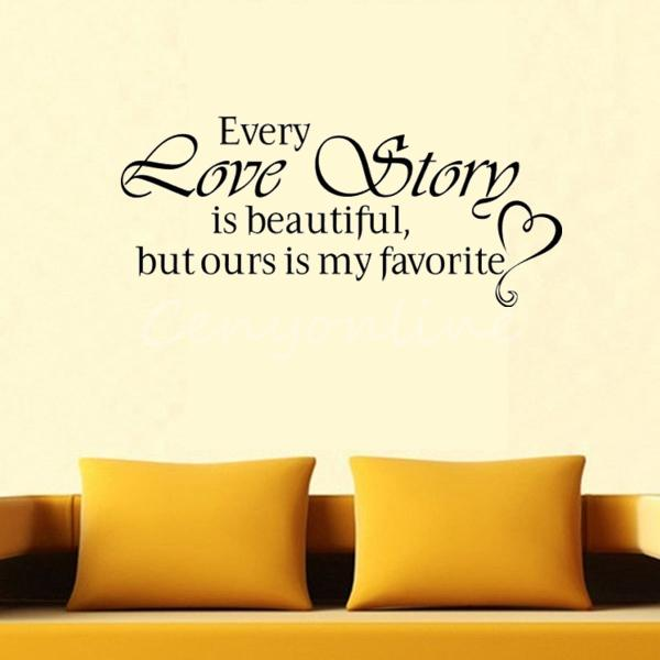 EVERY LOVE STORY DIY Lettering Words Wall Art Decal Vinyl Wall Sticker Mural Home Decor Inspiration