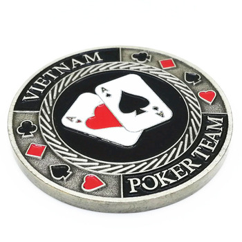 Free shipping high quality custom metal chips for poker