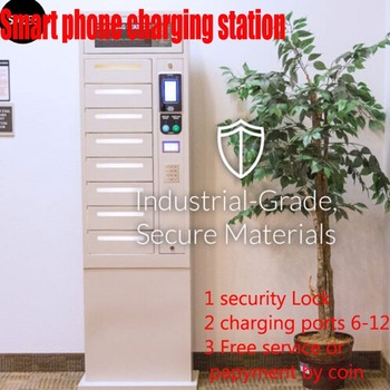 TFT type commercial charging station /cell phone charging station kiosk