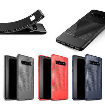 New Carbon Fiber Soft Tpu Back Cover Phone Case For Samsung Galaxy S10 S10 plus
