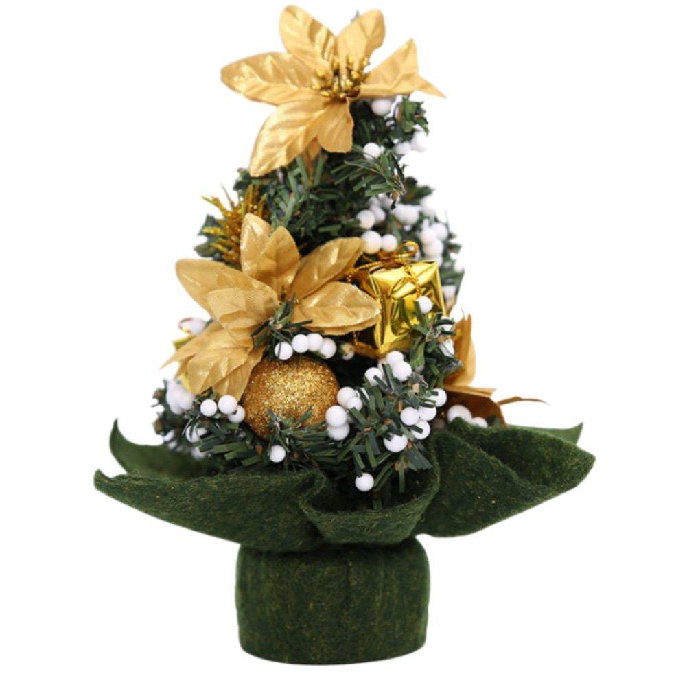 KAYI Mini Artificial Green Christmas Tree Indoor Xmas Decoration Indoor/Outdoor Pathway Christmas Trees Small Christmas Desk Tree