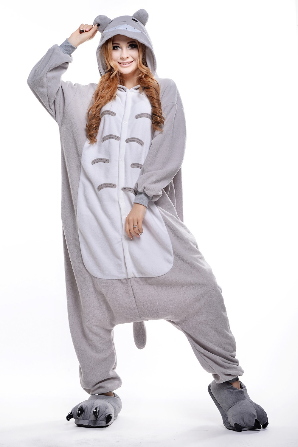 Get Quotations · Totoro Costume  Plus Size Halloween Costume for Women   Mens Onesie  Fancy Anime Cosplay 840fd41e2739