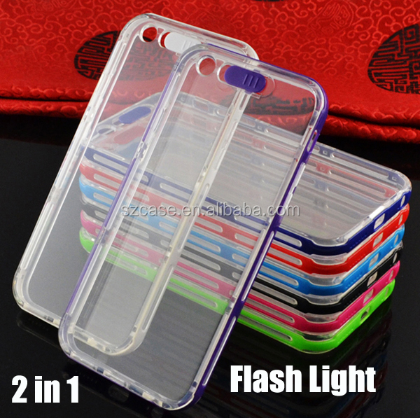 LED Flash Light Mobile Phone Cover For Iphone 6 6S wholesale selfie led light case for iphone6s