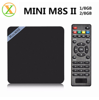 Factory direct sale s905x mini m8s II android tv box av cable quad core internet tv set top box