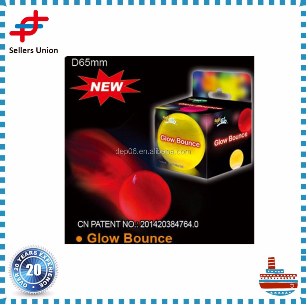 Top Selling led Glow Bouncing Ball for Party or Festival
