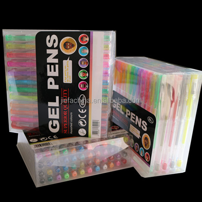 160 Multicolor Gel Ink Ball Point Pen in PVC Box Packing