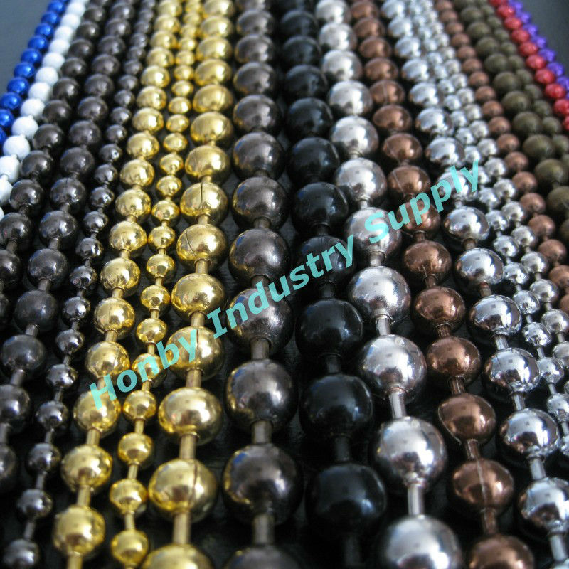 Fashion colorful round ball chain metal bead curtain